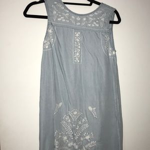 Light blue jean dress